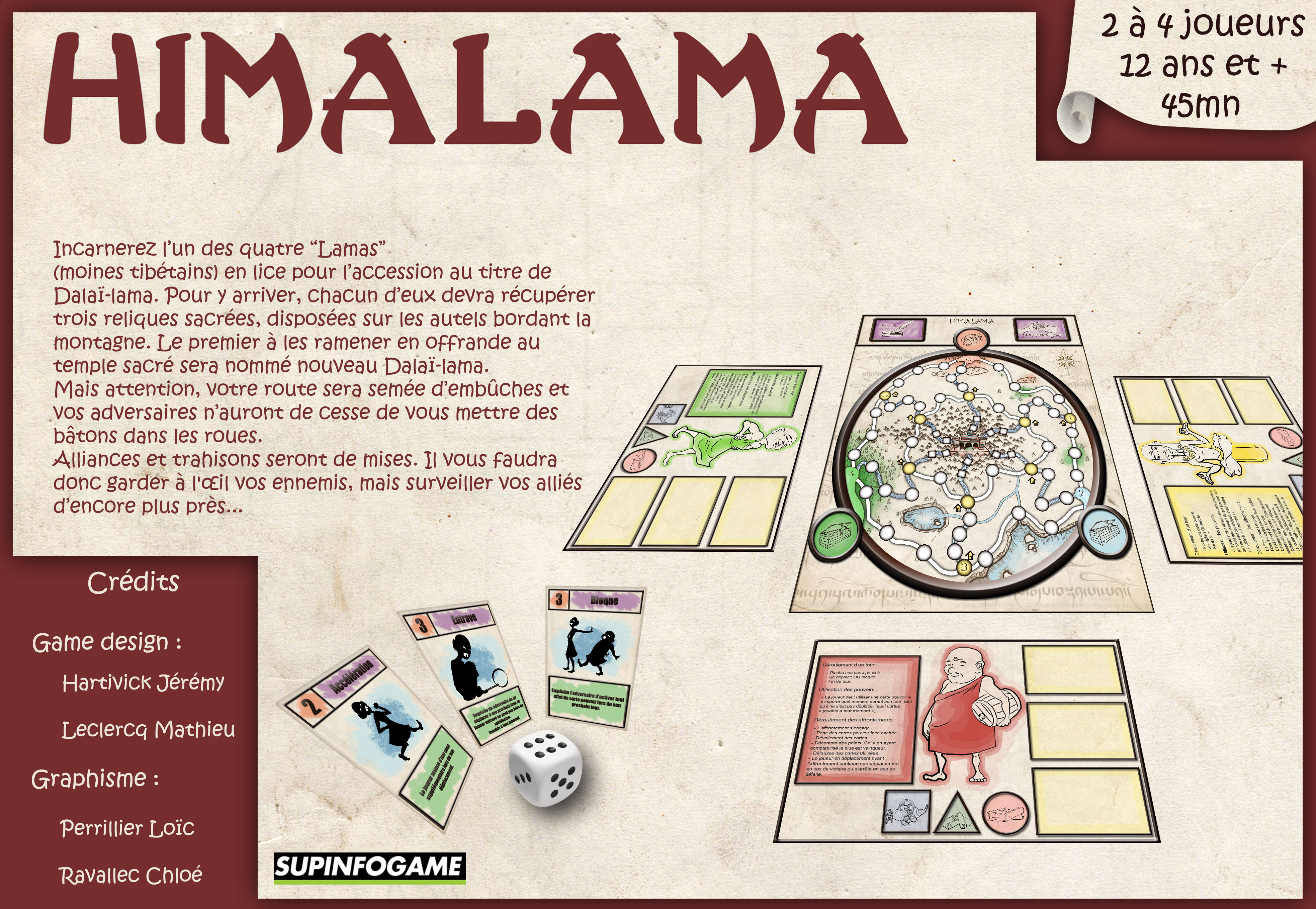 This is the back cover of my first boardgame: Himalama.